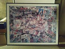 mickey mantle signed framed poster 22x28
