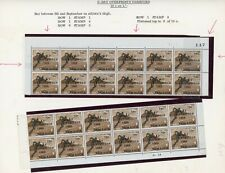 Jamaica 1969 Overprint Varieties & Flaws - 10c SG286 Blocks x2 with Varieties