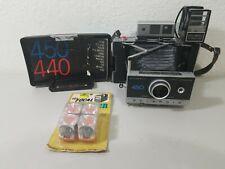 Vintage Polaroid 450 Land Camera UNTESTED Owners Manual Focused Flash