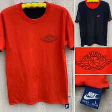 New listing Vintage Nike Air Jordan Wings T-Shirt Reversible Made In Usa L 41-43 80s 1980s