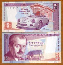 Czechoslovakia, 5 Korun, 2018 (2019) Private issue > Commemorative, Porsche 356
