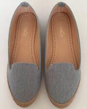 M&Co Ladies Flat Pale Blue Espadrille/ Pump/shoes Size 6