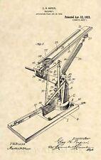 Official Trap Shooting Clay Thrower US Patent Art Print -Vintage Shotgun 368
