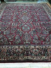 10' x 12' Karastan Persian Sarouk Design Oriental Rug - Floral - Full Pile