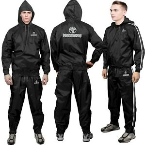 Heavy Duty FS Sauna Sweat Suit Exercise Gym Suit Fitness Weight Loss Anti-Rip
