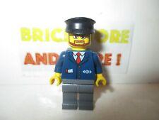 Lego - Minifigures - Dark Blue Suit with Train Logo Dark Bluish - trn222