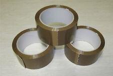 3 rouleaux de Scotch marron  / d'adhésif havane 50 x 66 metre qualité standard