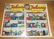 2 E.O. du Journal BD de Jhonny Halliday N°2 et 3 an 70' Jijé etc TBE