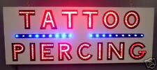 NEW TATTOO PIERCING LED neon SIGN B&W letter