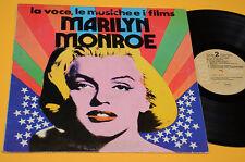 MARILYN MONROE LP LA VOCE LE MUSICHE I FILMS ITALY PRESS 1974