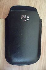 New Imported Black Color Leather Cover Pouch Carry Case for BlackBerry 8520