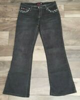 Bubblegum Womens Black Jeans Size 9 10 Flare Lightly Distressed Studded