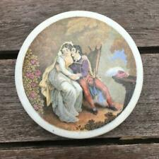 The Lovers No. 119 Good Pot Lid with White Surround Pratt Ware c1850