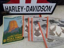 STURGIS HARLEY DEVILS TOWER POST CARD TEMPORARY TATOO BODY ART WIDE GLIDE XLCH K