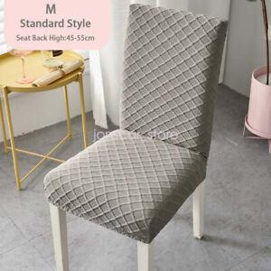 2Pcs Small Diamond Lattice Chair Cover Stretch Dustproof Protector Slipcover