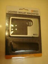 Mighty Bright 87022 LED Wallet Magnifier, Silver