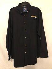 Missouri Tigers  Black Long Sleeve Polo Shirt Men's Size Large