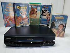 Panasonic PV-8400 VHS VCR and movie bundle