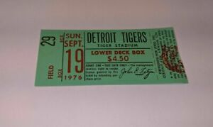 1976 DETROIT TIGERS vs BOSTON RED SOX MLB Baseball Ticket Stub Lower Deck Box