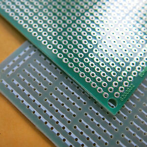 5pcs Stripboard board 8x6.5cm pcb 5er joint hole Prototype Paper pcb FR4 circuit