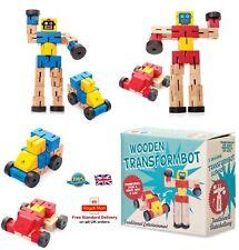 In legno transformbot Transformers Robot Auto Flessibile in Legno Giocattolo Ragazzi Ragazze Regalo