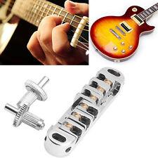 Roller Locking Saddle Tune-O-Matic Bridge Chrome For Les Paul Guitar New