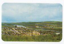 MADAWASKA Maine & St. John River from EDMUNDSTON New Brunswick Canada Postcard