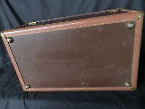 vintage Hartman luggage hard shell suitcase original tag 17.5 x 22.5 x 8.5