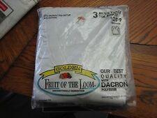 Golden Fruit of the Loom 3 pack V- neck T shirts 1970s vintage NOS New in pack
