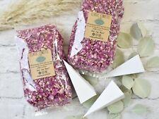 4 Litres Dried Magenta Rose Petal Wedding Confetti Plus 48 Cones 48-96 Guests