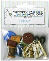 Buttons Galore Sewing Themed Button Bag Package of 11 Buttons Galore
