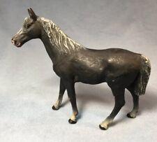 Vintage Lionel Elastolin Black Arabian Horse, G Scale, 70mm