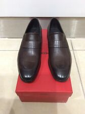 Hugo Boss Men's Shoes 50321532 Square Loafer Brown Slip On Leather UK 10 (44)