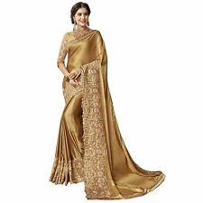 Indian Saree Sari Bollywood Style Wedding Fancy Traditional Women Designer