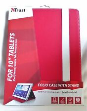 "TRUST TABLET CASE FOR APPLE/SAMSUNG/ACER/GOOGLE/SONY 10"". BRAND NEW. 19902"