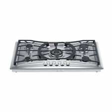"""36"""" Stainless Steel 5 Italy Sabaf Burners Stove Top Gas Cooktop"""