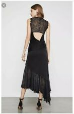 NWT BCBG MAXAZRIA Lace Asymmetrical Cutout Dress Color Black Size M