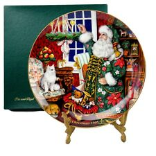 Fitz And Floyd 1995 Collector Plate Father Christmas And The Season Of Giving