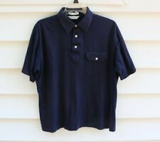 Vtg Christian Dior Pocket Short Sleeve Cotton Blend Polo Shirt Mens Sz Large