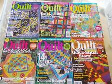 Lot of 6 QUILT QUILTING Magazines OOP 2006-2007 NO LABELS