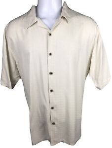 Joseph & Feiss Men's 2XL Extra Extra Large Silk Button Down Camp Shirt