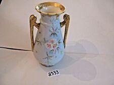 Royal Bonn 7 inch Vase Hand Painted Flowers