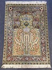 Traumhafter Orientteppich | Seide | Handgeknüpft 155 x 110 cm Gold
