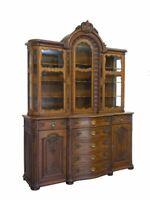 Vitrine Schrank Buffetschrank antik barocker Stil um 1900 Eiche B: 186 cm (9723)