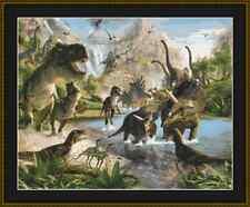 Dinosaurios Kit Punto De Cruz
