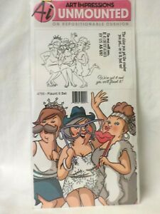 Art Impressions Girlfriends Cling Rubber Stamps Flaunt It Set - 4756