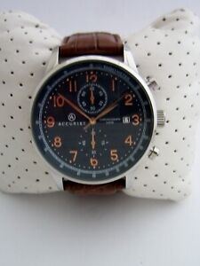 ACCURIST LONDON WATCH MENS 7196 CHRONOGRAPH STAINLESS STEEL BLUE DIAL GENUINE