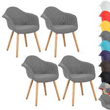 4er Set Esszimmerstühle Design Esszimmerstuhl Küchenstuhl Holz Stuhl BH37swh-4