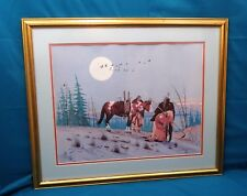 """""""Signals of Winter"""" by Daniel Long Soldier, Framed Print"""