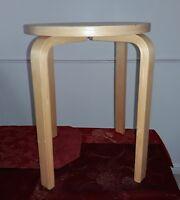 IKEA Frosta stackable Stool Step Round Seat Birch Wood Breakfast Bar multipurpos